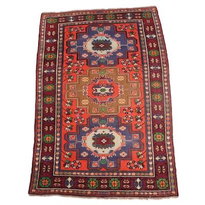 4'6 x 7'3 Hand-Knotted Turkish Anatolian Area Rug
