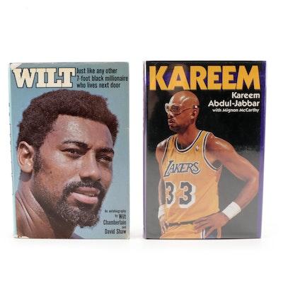 "Signed ""Kareem"" by Kareem Abdul-Jabbar and ""Wilt"" by Wilt Chamberlain"