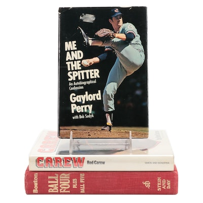 """Signed First Edition """"Carew"""" by Rod Carew and More Signed Baseball Books"""