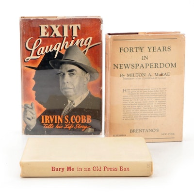 """Signed First Edition """"Exit Laughing"""" by Irvin S. Cobb and More Signed Books"""