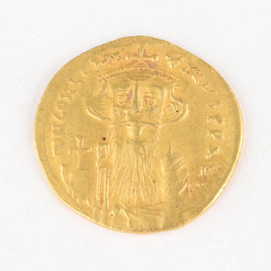Byzantine Empire Gold Solidus of Constans II, 641–668 AD