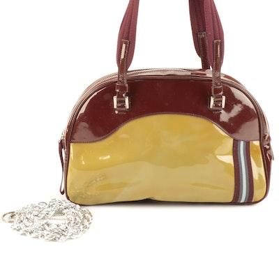 Prada Small Bowler Tote in Multicolor Patent Leather