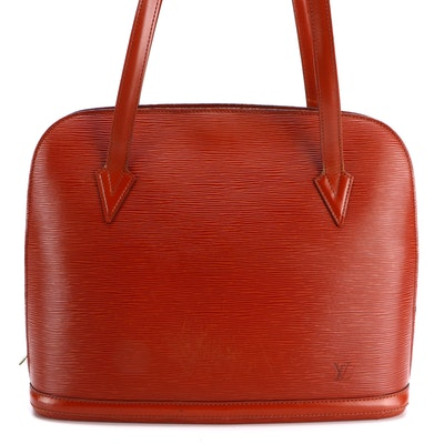 Louis Vuitton Lussac Tote in Kenyan Fawn Epi Leather