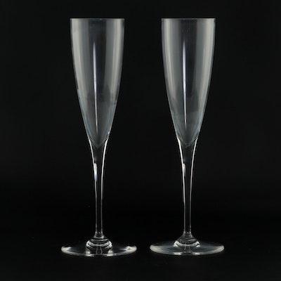 "Baccarat ""Dom Perignon"" Crystal Champagne Flutes, 1960s"