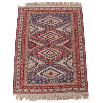 5'11 x 8'10 Handwoven Caucasian Kazak Soumak Area Rug