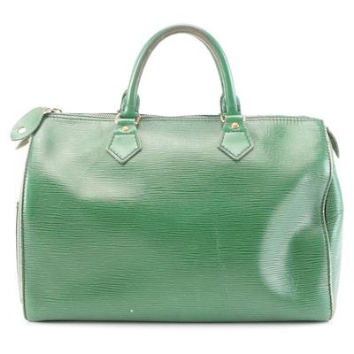 Louis Vuitton Speedy 30 in Borneo Green Epi Leather