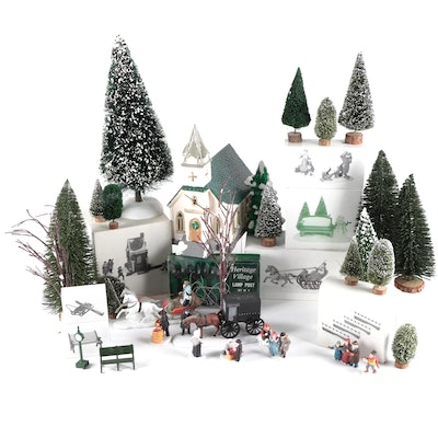 """Department 56  """"Snowhouse Series"""" and Other Porcelain Figurines and Accessories"""