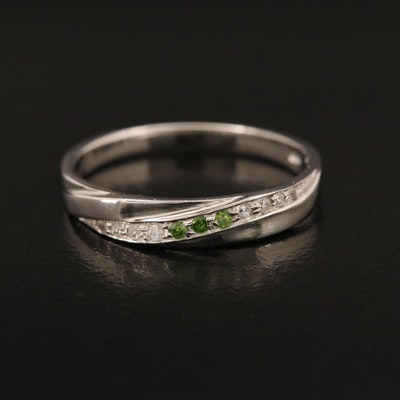Sterling Diamond and Zircon Crossover Band