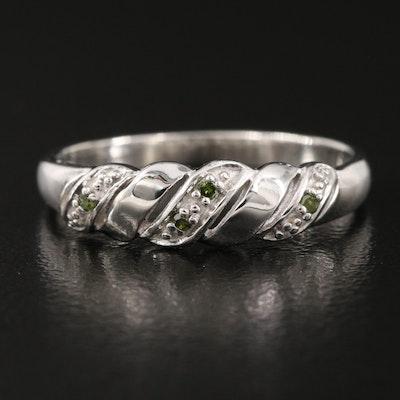 Sterling Raised Diamond Ring