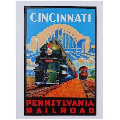 Giclée of Cincinnati Pennsylvania Railroad, 21st Century