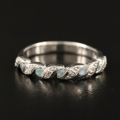 Sterling Alexandrite and White Zircon Band