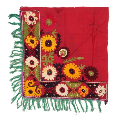 Handmade Central Asian Embroidered Decorative Wall Hanging