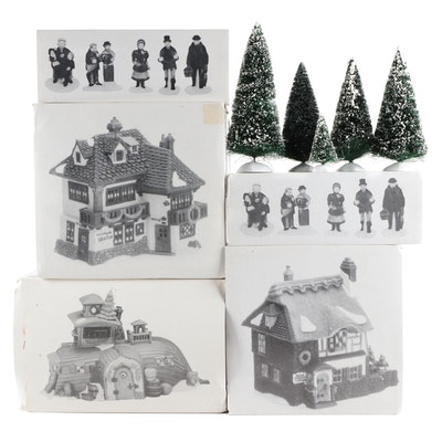 """Department 56 """"Dickens' Village"""" Porcelain Buildings and Accessories"""