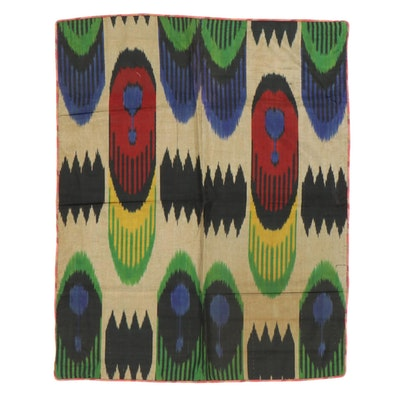 Handwoven Central Asian Ikat Textile Wall Hanging