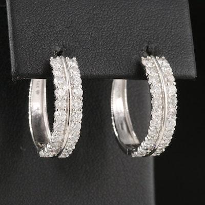 14K 2.04 CTW Diamond Hoop Earrings