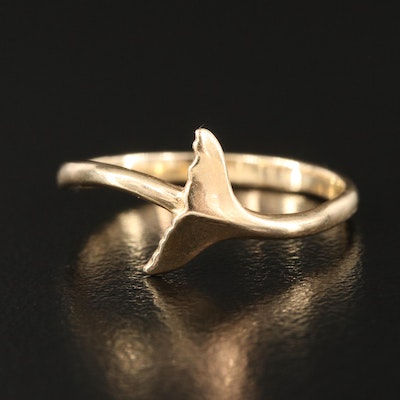 14K Whale Tail Ring