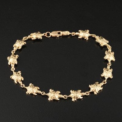 14K Turtle Link Bracelet