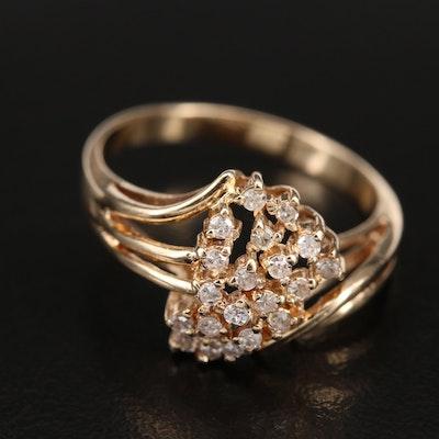 14K 0.27 CTW Diamond Ring