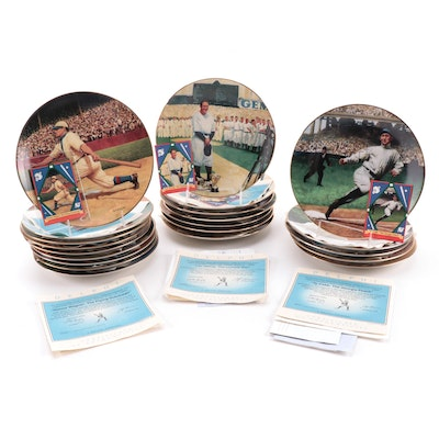 """Delphi """"The Legends of Baseball"""" Porcelain Collector Plates, Late 20th Century"""