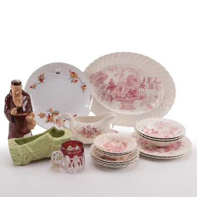"""Royal Staffordshire """"Charlotte"""" Dinnerware with Planter and Other Items"""