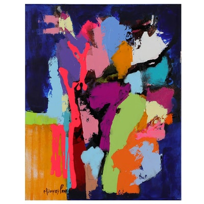 Milagros Pongo Abstract Acrylic Painting, 21st Century