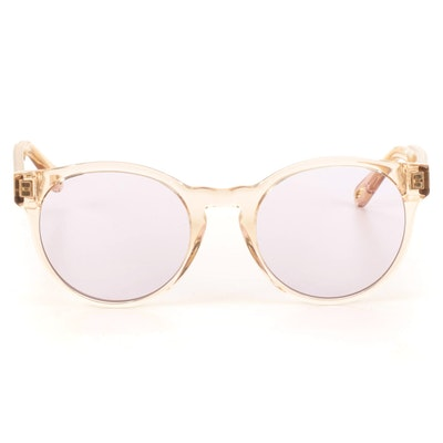 Chloé CE753S Translucent Round Sunglasses with Case