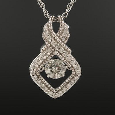 14K 0.43 CTW Diamond Tremble Pendant Necklace