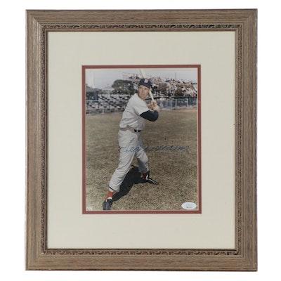 Ted Williams Signed Framed Photo Print, JSA Full Letter COA