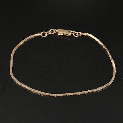 Italian 14K Cobra Link Chain Bracelet