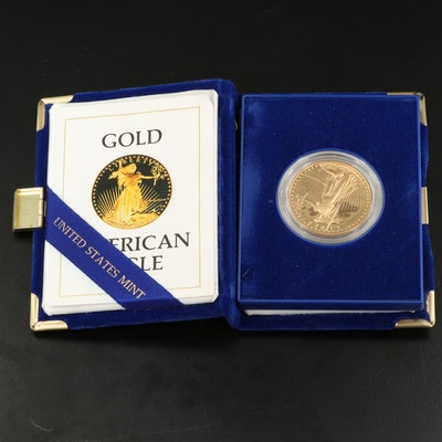 1986-W 1 Troy Ounce Proof $50 American Eagle Gold Bullion Coin