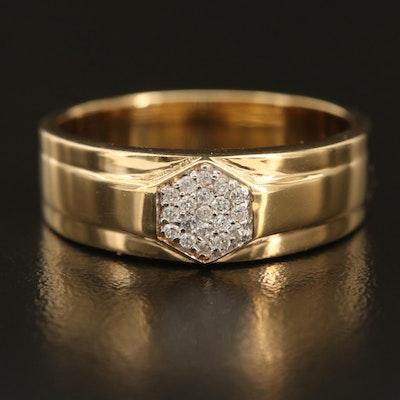 Sterling Silver Zircon Custer Ring