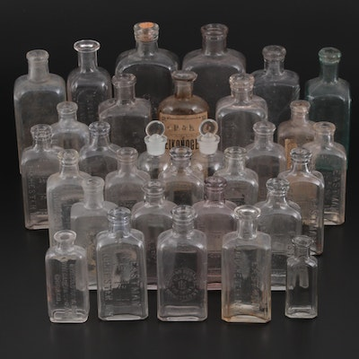 Eastman Kodak and Other Film Chemical Bottles, Late 19th/Early 20th Century