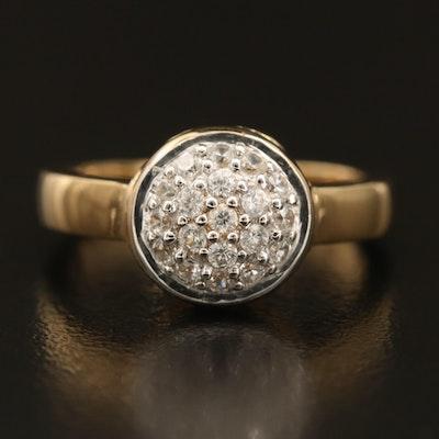 Sterling Pavé Zircon Dome Ring