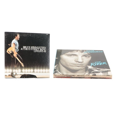 """Bruce Springsteen """"Born To Run"""", """"The River"""", Other Vinyl LP Records"""