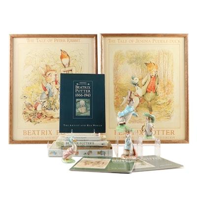 Beatrix Potter Books, Figurines, and Framed Prints