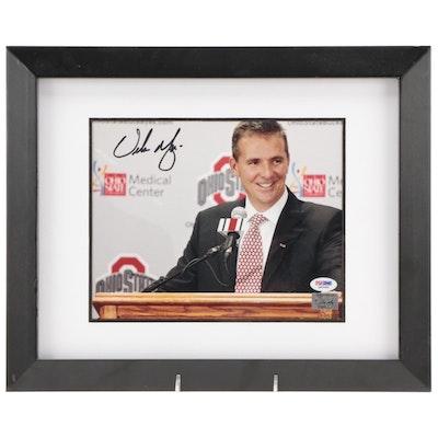 Urban Meyer Signed Framed Ohio State Photo Print, PSA/DNA COA