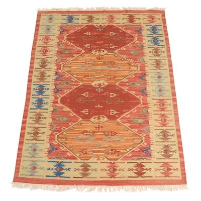 5'1 x 7'5 Handwoven Turkish Style Kilim Area Rug