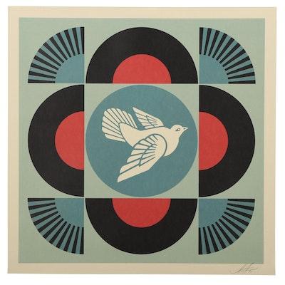 "Shepard Fairey Offset Print ""Dove Geometric,"" 2021"