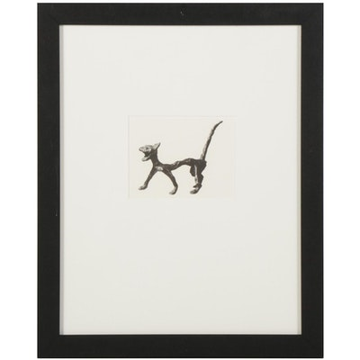 "Halftone After Alexander Calder ""Le chat"" for Galerie Adrien Maeght, 1987"