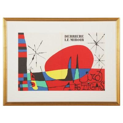 """Joan Miró Color Lithograph Cover for """"Derrière le Miroir,"""" 1956"""