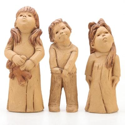Lee Bortin Cast Composite Figurines of Children