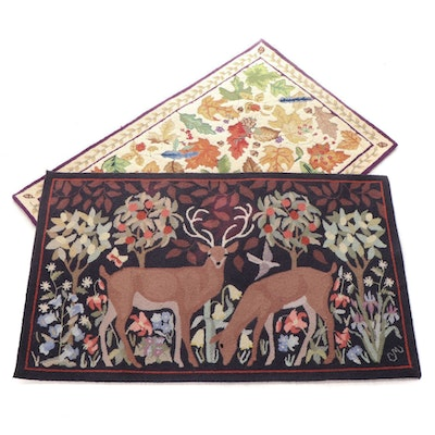 """3' x 5' Hand-Hooked Area Rugs Including Claire Murray """"Mountain Meadow"""" Rug"""