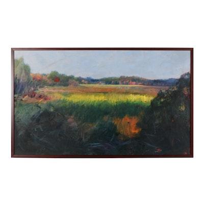 "M. Katherine Hurley Oil Painting ""Maine Memories II,"" Circa 2000"