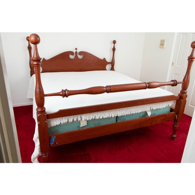American Federal Style Cherry Cannonball Poster King Bed