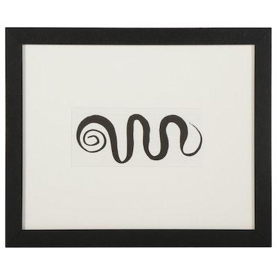"""Half-Page Lithograph After Alexander Calder for """"Derrière le Miroir,"""" 1966"""