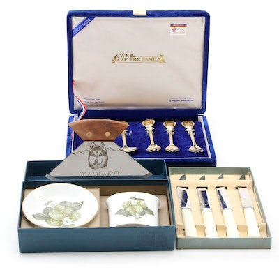 Royal Worcester Bone China Smoking Set and Other Tableware, Late 20th Century