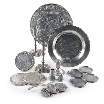 Creative Products Cincinnati Pewter Coasters, Wilton and Other Tableware