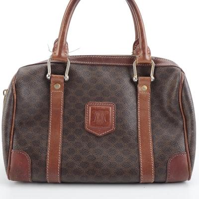 Celine Macadam Canvas and Leather Handbag