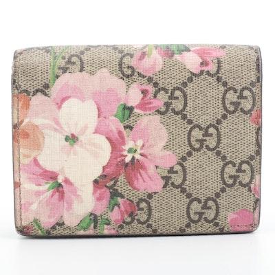 Gucci Card Case in GG Supreme Monogram Bloom Print