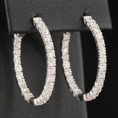 14K 2.98 CTW Diamond Inside-Out Hoop Earrings
